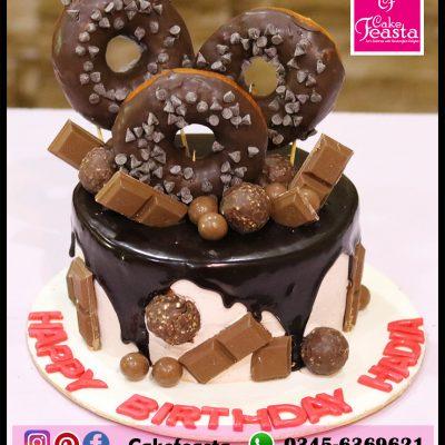 Donuts Chocolates Birthday Cake