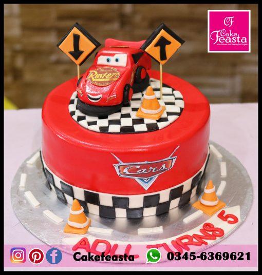 Lightning McQueen Car Kids Birthday Cake