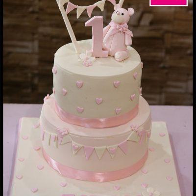 Pink White Princess Cake
