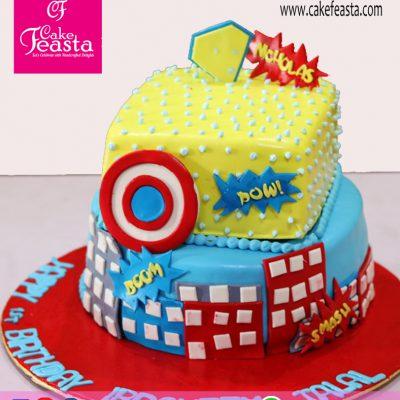 2 Tier Kids'-Birthday-Cake