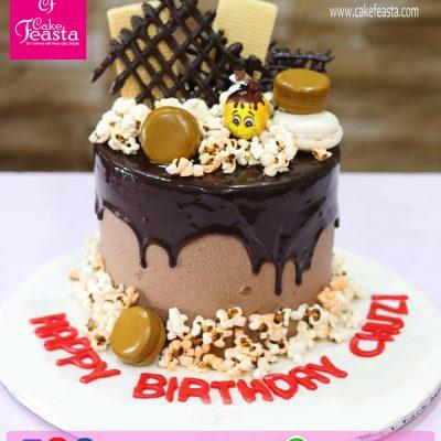 Popcorn Chocolates Birthday Cake