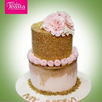 Beautiful Flowers Mom Birthday Cake