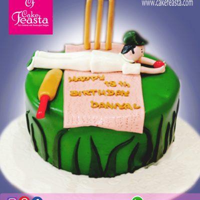 Cricket-Theme-Birthday-Cake