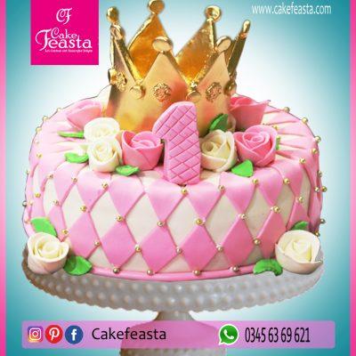 Golden-Crown-Birthday-Cake