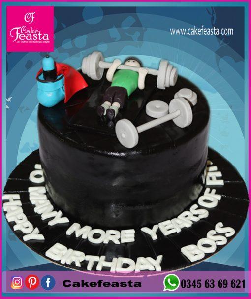 Weightlifting-Theme-Birthday-Cake