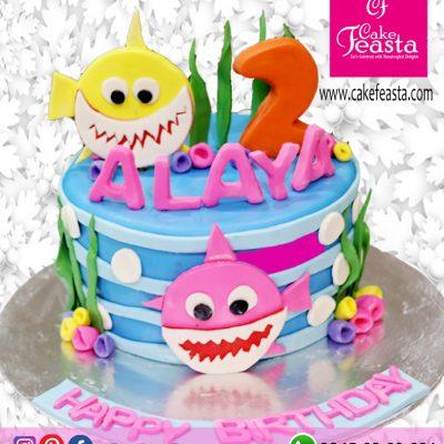 1-Tier-Small-Fish-Birthday-Cake
