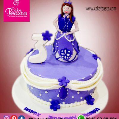Blue-Doll-Birthday-Cake