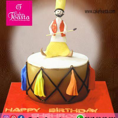 Dhol-Theme-Birthday-Cake
