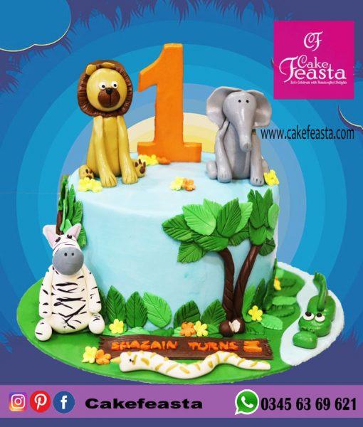 Forest Theme Birthday Cake