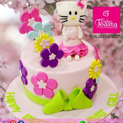 Multi-Flowers-Doll-Birthday-Cake