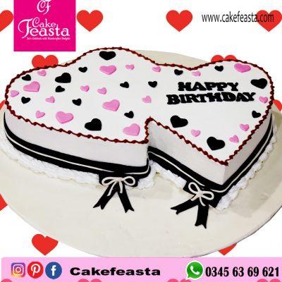 Pair-Hearts-Birthday-Cake