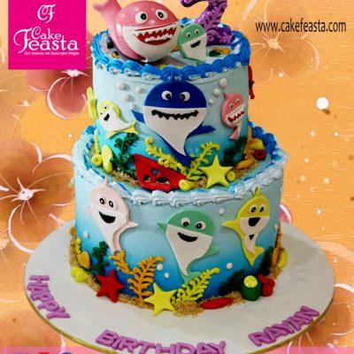 Small-Fishes-Theme-Birthday-Cake