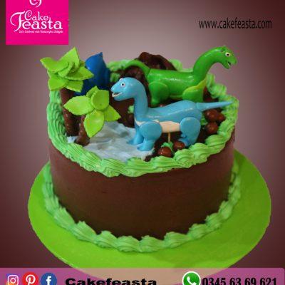 Dinosaur Theme Birthday Cake