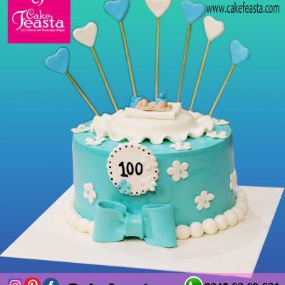100 Days Celebration Cake