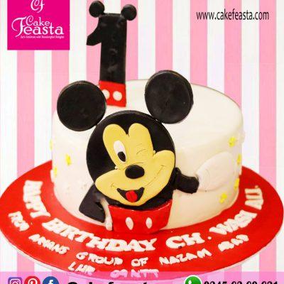 Mickey Mouse Theme Birthday Cake