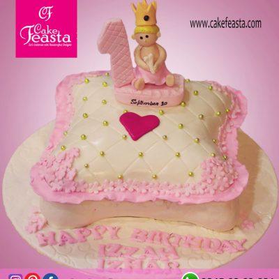 Cushions Theme 1st Birthday Cake