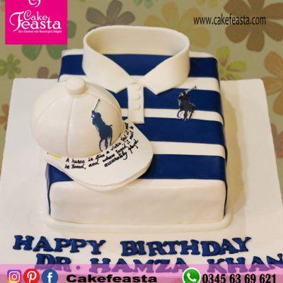 Polo Shirt Birthday Cake