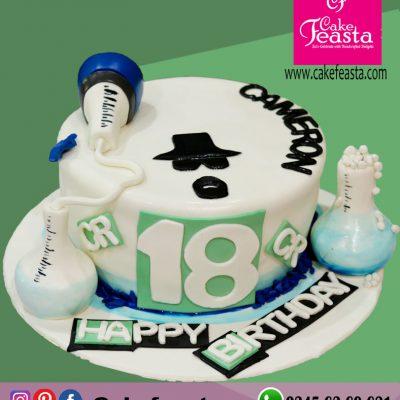 Lab Theme Birthday Cake