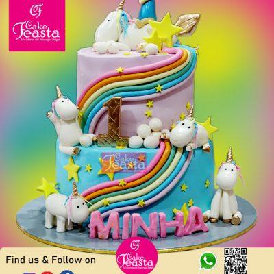 2 Tier Unicorn Theme Birthday