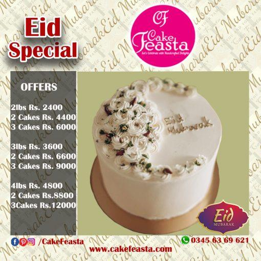 Fresh Cream Eid Cake