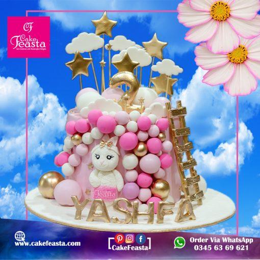 Kittie Theme Kids Birthday Cake