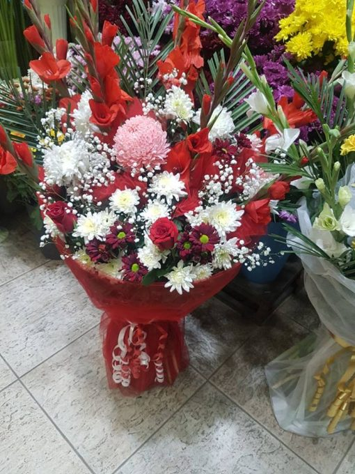 Red Flowers Bouquet (Imported M)