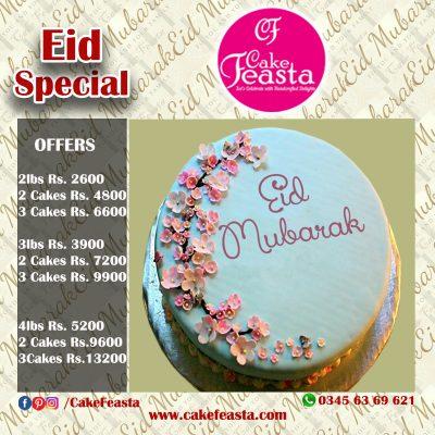 Small Decent Flowers Eid Cake