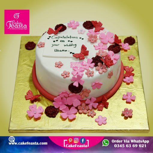 Wedding Congratulation Cake