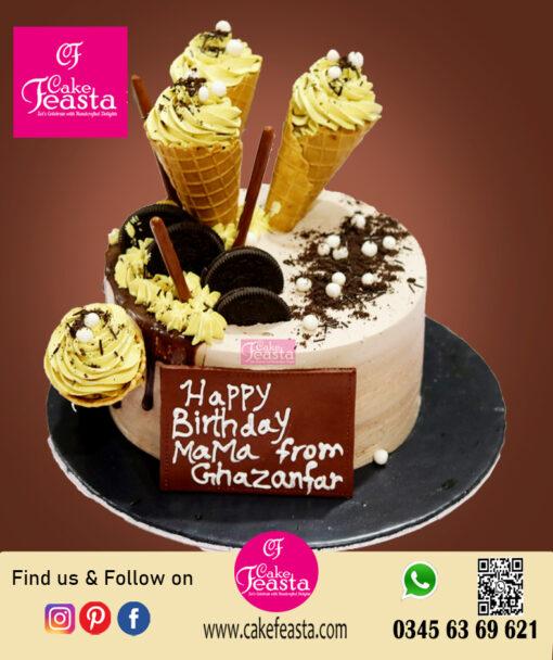 Orio - Cone Ice Cream Theme BD Cake