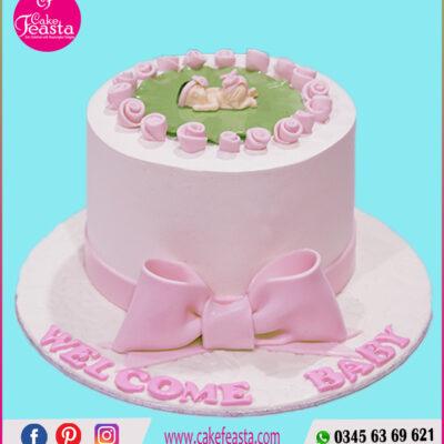 Baby Shower Pink Cake