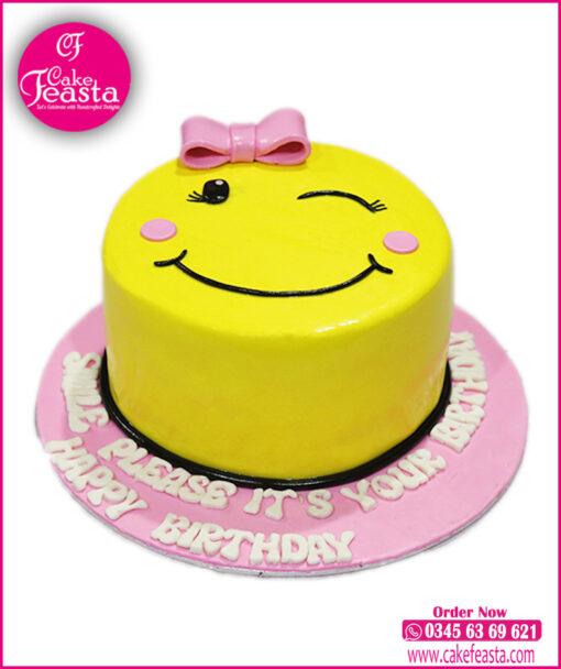 Happy Emoji Birthday Cake