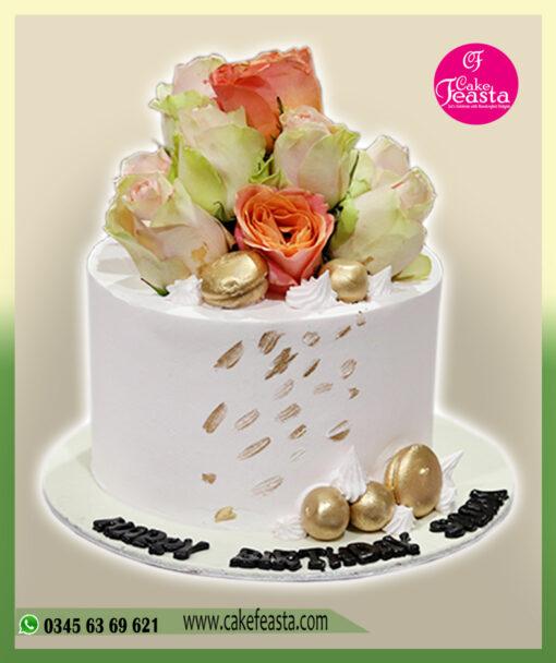 Imported Flowers Birthday Cake