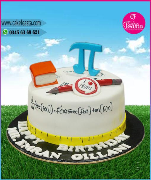 Maths Lover Birthday Cake